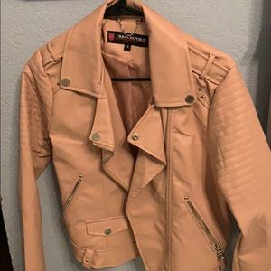 Urban republic pink faux leather jacket